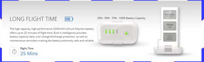 DJI Phantom 2 Vision Battery Information